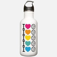 I Heart Volleyball Water Bottle
