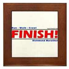 Funny Just finish Framed Tile