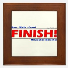 Funny Just finish Framed Tile