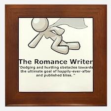 Cute Romance Framed Tile