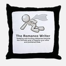 Cute Writer romance Throw Pillow