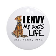 Airedale Terrier Funny Ornament (Round)