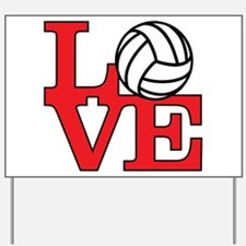 Volleyball Love - Red Yard Sign