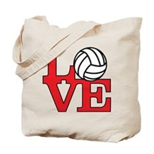 Volleyball Love - Red Tote Bag