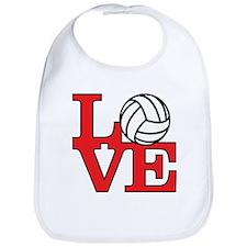 Volleyball Love - Red Bib