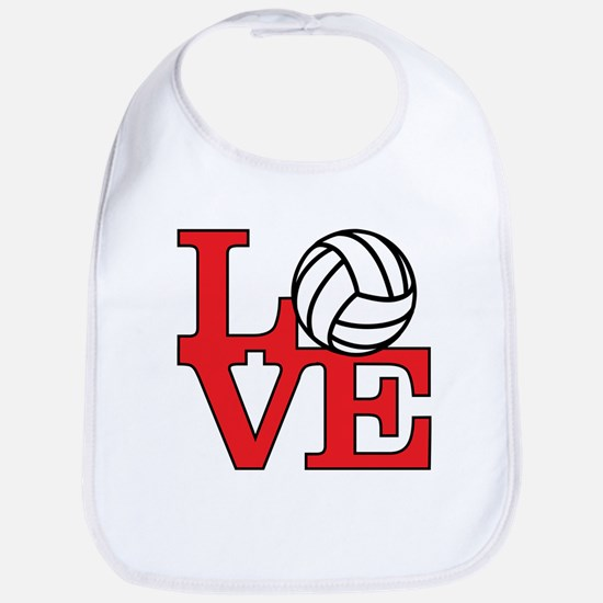 Volleyball Love - Red Bib