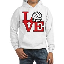 Volleyball Love - Red Hoodie Sweatshirt