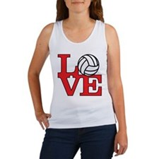 Volleyball Love - Red Women's Tank Top