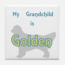 Golden Grandchild Tile Coaster
