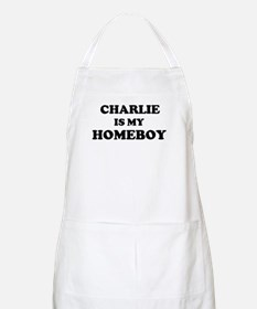 Charlie Is My Homeboy BBQ Apron