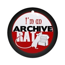 Archive Rat (V1) Ornament (Round)