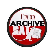 """Archive Rat (V1) 3.5"""" Button"""