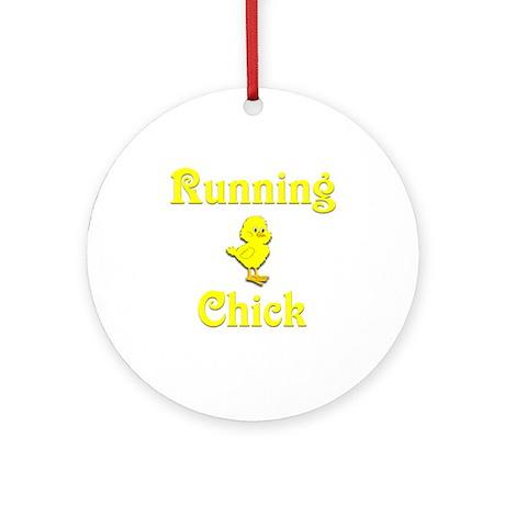 Running Chick Ornament (Round)