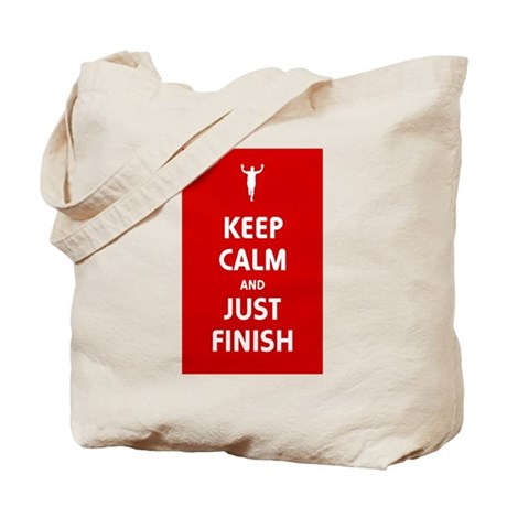 Keep Calm and Just Finish Tote Bag