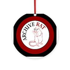 Archive Rat (V3) Ornament (Round)