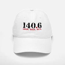 140.6 Swim Bike Run Baseball Baseball Cap