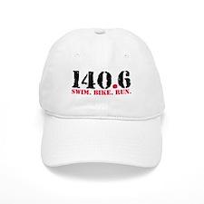 140.6 Swim Bike Run Baseball Cap