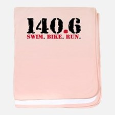 140.6 Swim Bike Run baby blanket