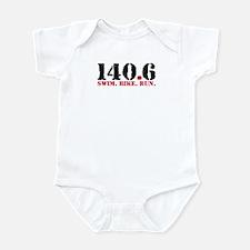 140.6 Swim Bike Run Infant Bodysuit