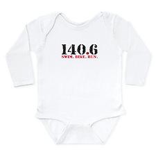 140.6 Swim Bike Run Long Sleeve Infant Bodysuit