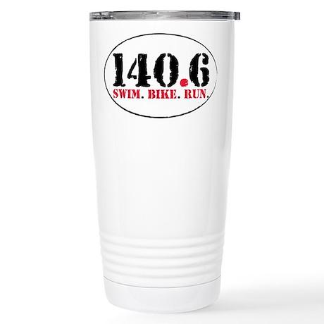 140.6 Swim Bike Run Stainless Steel Travel Mug