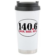 140.6 Swim Bike Run Travel Mug