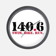 140.6 Swim Bike Run Wall Clock