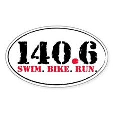 140.6 Swim Bike Run Decal