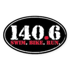 140.6 Swim Bike Run Decal