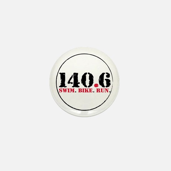 140.6 Swim Bike Run Mini Button
