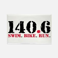 140.6 Swim Bike Run Rectangle Magnet