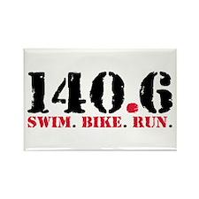 140.6 Swim Bike Run Rectangle Magnet (100 pack)