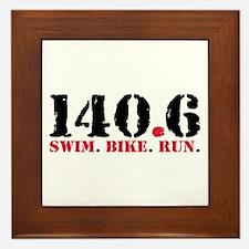 140.6 Swim Bike Run Framed Tile