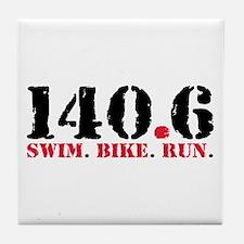 140.6 Swim Bike Run Tile Coaster