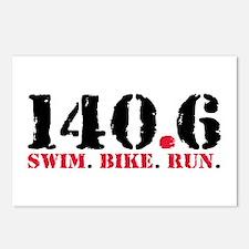 140.6 Swim Bike Run Postcards (Package of 8)