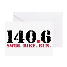 140.6 Swim Bike Run Greeting Cards (Pk of 20)