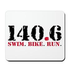 140.6 Swim Bike Run Mousepad