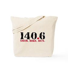 140.6 Swim Bike Run Tote Bag