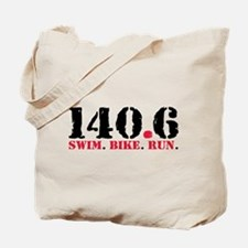140.6 Swim Bike Run Tote Bag