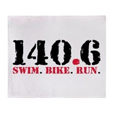 140.6 Swim Bike Run Throw Blanket