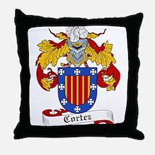 Cortez Coat of Arms Throw Pillow