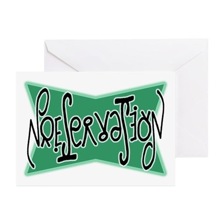 Preservation Ambigram Greeting Cards (Pk of 10