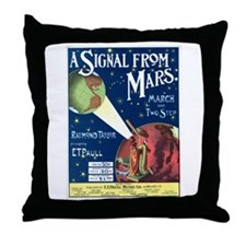 A Signal From Mars Throw Pillow