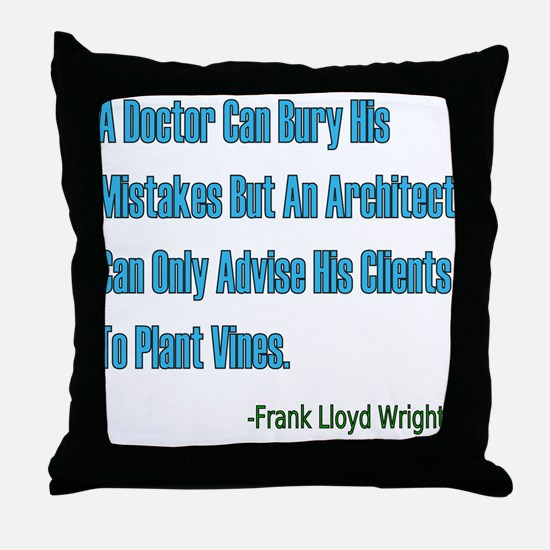 Architects and Doctors Throw Pillow