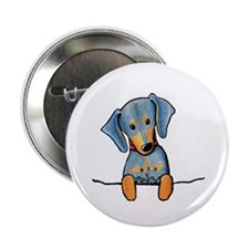 """Black Pocket Dachsie 2.25"""" Button (10 pack)"""