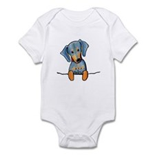 Black Pocket Dachsie Infant Creeper
