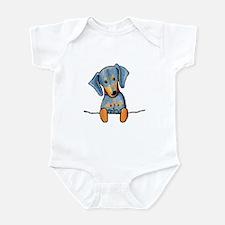 Black Pocket Dachsie Infant Creeper