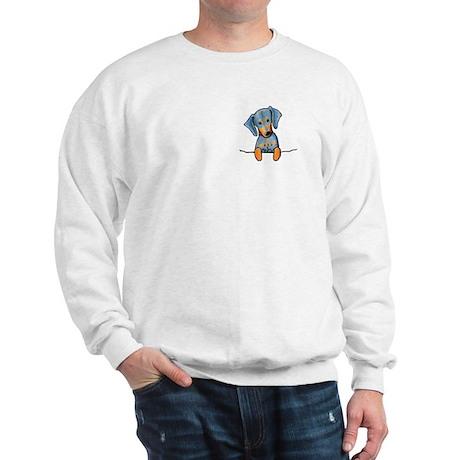 Black Pocket Dachsie Sweatshirt