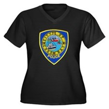 Coos Bay Police Department Women's Plus Size V-Nec