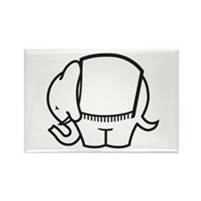 Cafe Elefant-1 Rectangle Magnet (10 pack)